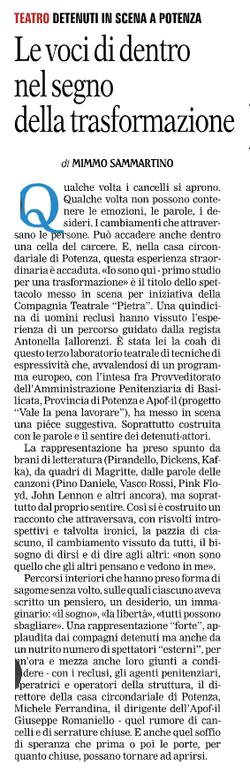 Gazzetta del Mezzogiorno 17/12/2015