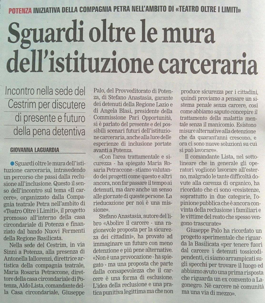 Gazzetta del Mezzogiorno 11/10/2016