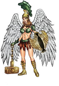 Deanna, Hammer of the Angels  - art by Rihuyat, colors by Ronson Edulan.png