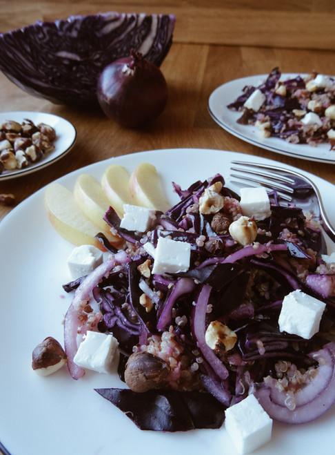 kinoa-Rotkohl-Salat