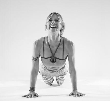 Agnes Kru Yoga teaching Urdhva Mukha Svanasana