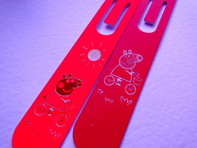 Coated Metal Laser Engraving. Clip