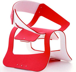 Rubber. Laser Cut. Chair.