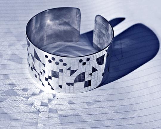 Cuff bracelet Silver Laser Makark