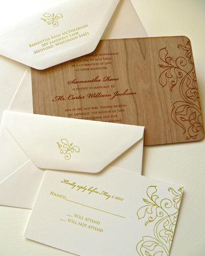 Wood. Laser Engrave. Card.