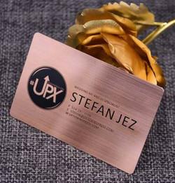 Custom Copper business cards