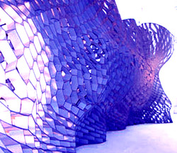 Plastic. laser cut. Sculpture.