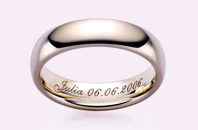 Inside Ring  Engraving Silver