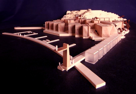 Architectural model Balsa laser cut