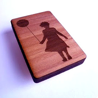 Laser engrave on mahogany wood