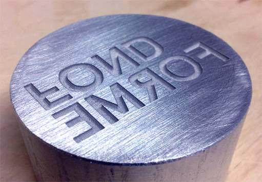 Fiber Laser Mark etching on steel