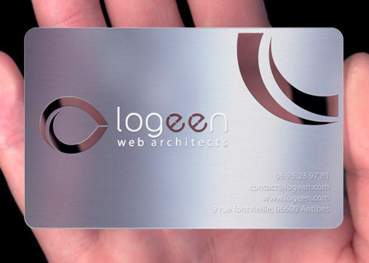 Aluminum Business card laser cut