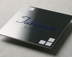 Metal. Fiber Laser Mark. Plate.