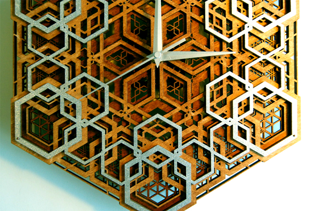 Laser Cut Plywood Sample Clock