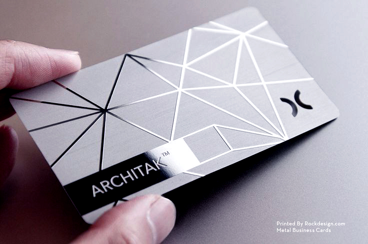 Mirror SS METAL Business card