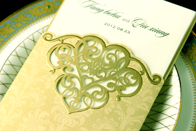 Card Stock. Laser Cut. Invite.