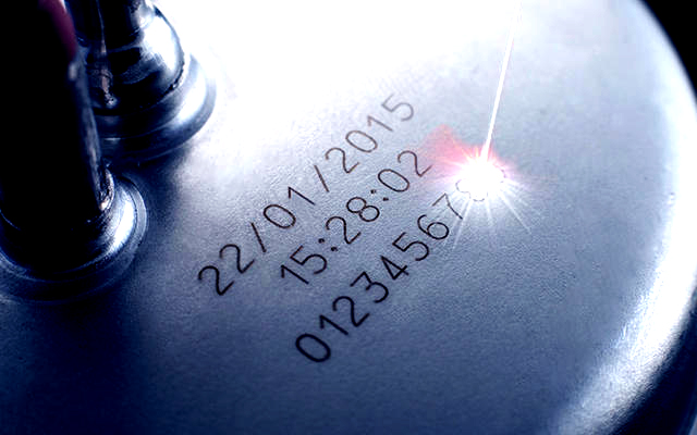 Metal. Fiber Laser Mark. Part