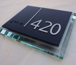 Architectural sign PLASTIC METAL