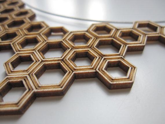Plywood. Laser Cut. Pendant.