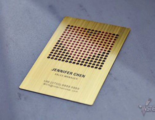 Brass metal business cards