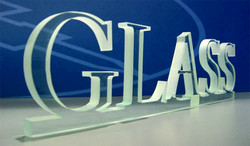 waterjet Glass for signage