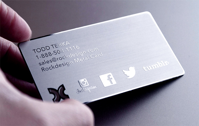 Mirror Stainless steel business card