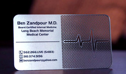 Metal cutting for business cards