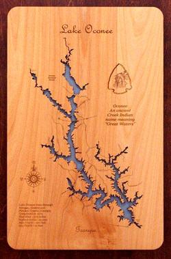 Laser cutting Wood Map