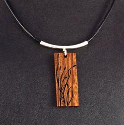Laser Engrave wood Pendant Necklace