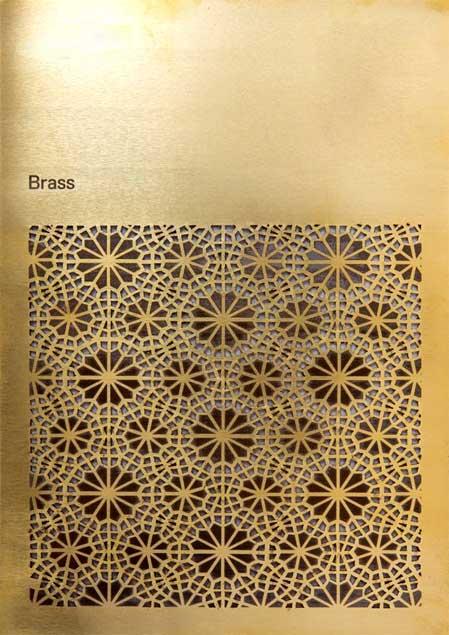 Brass Laser cut laser engrave