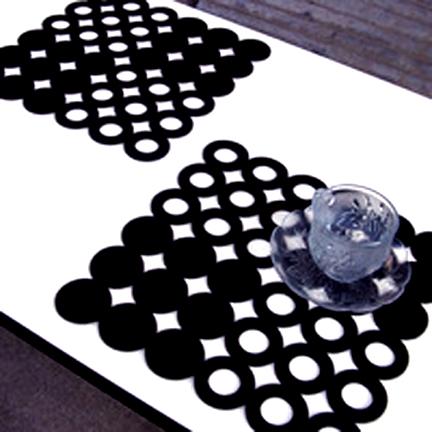 Felt. Laser Cut. Coaster.