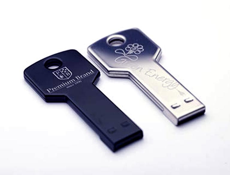 Metal. Fiber Laser Mark. USB drive
