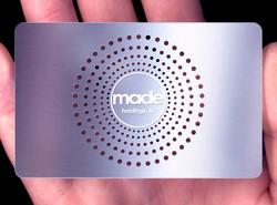 Designer metal business cards