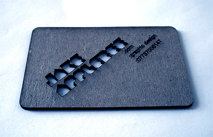 laser cut business card Heavy Card s