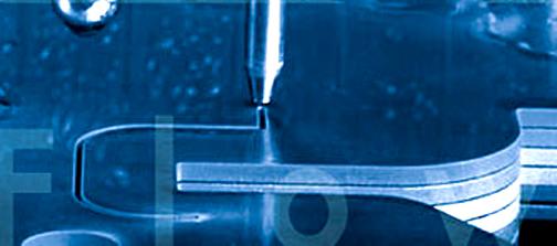 Water jet multi layer glass cutting