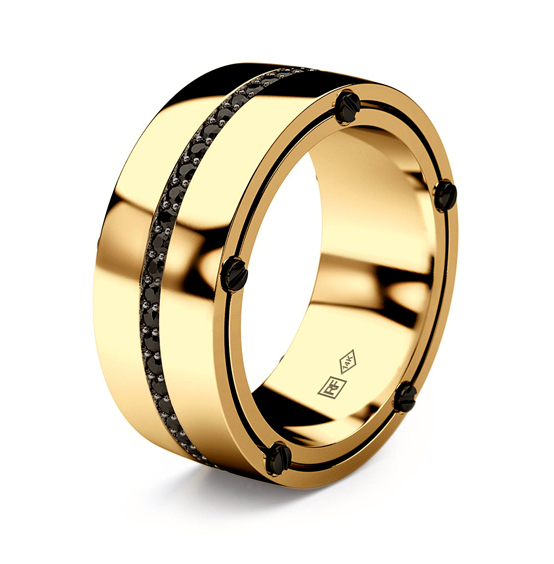 Gold etching ring