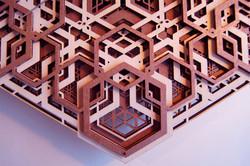Laser cut plywood wall clock
