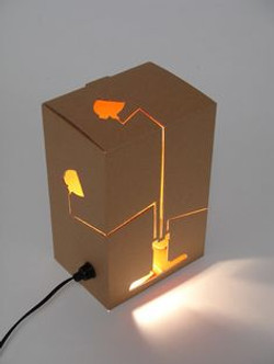 Table Lamp Card Board Laser Cut