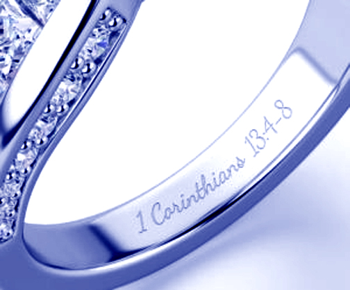 Inside engraving silver