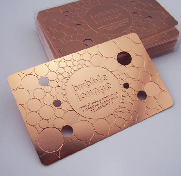 Copper etching Business cards
