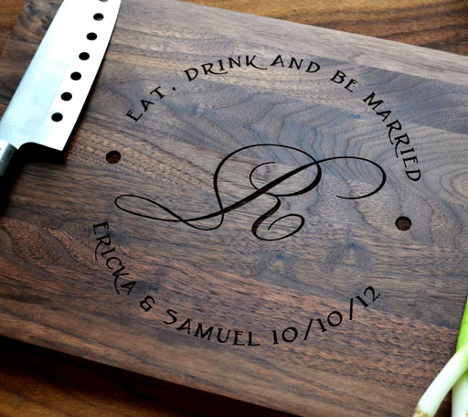 Laser Engraving Wood. Cutting Board.