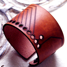 Leather. Laser Cut. Cuff.