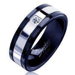 Ring Etching Black  Metal
