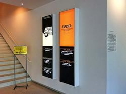 Architectural sign Back light panels