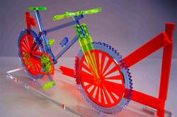 Acrylic. Laser Cut. Bicycle