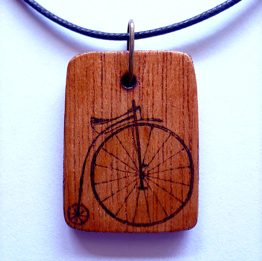 Solid Wood Laser Engraving. Pendant