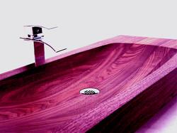 CNC Routing hardwood sink