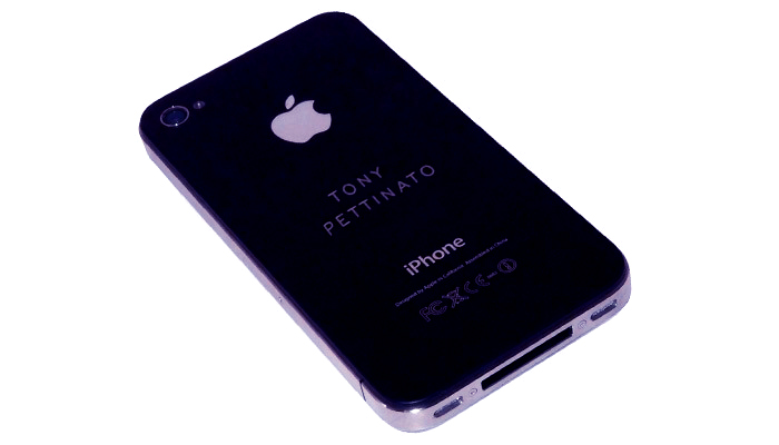 Metal Laser Engrave. iPhone.