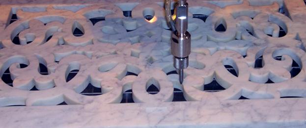 CNC cutting tiles waterjet