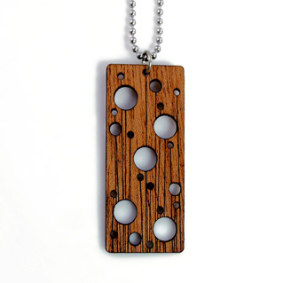 Laser Cut Solid Wood. Pendant.